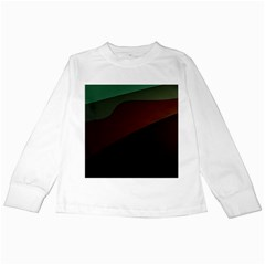 Color Vague Abstraction Kids Long Sleeve T-shirts by BangZart