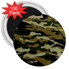 Military Vector Pattern Texture 3  Magnets (100 Pack) by BangZart
