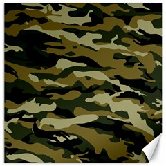 Military Vector Pattern Texture Canvas 16  X 16   by BangZart