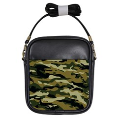 Military Vector Pattern Texture Girls Sling Bags by BangZart