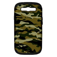 Military Vector Pattern Texture Samsung Galaxy S Iii Hardshell Case (pc+silicone) by BangZart