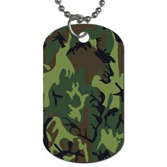 Military Camouflage Pattern Dog Tag (two Sides) by BangZart