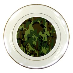 Military Camouflage Pattern Porcelain Plates by BangZart