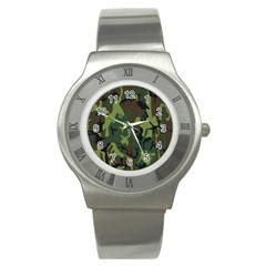 Military Camouflage Pattern Stainless Steel Watch by BangZart