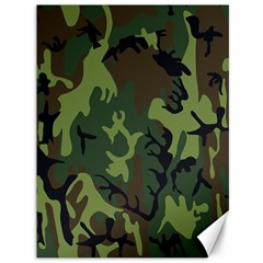 Military Camouflage Pattern Canvas 36  X 48   by BangZart