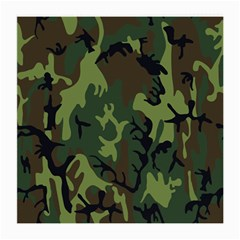 Military Camouflage Pattern Medium Glasses Cloth