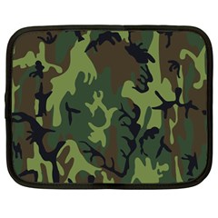 Military Camouflage Pattern Netbook Case (large) by BangZart
