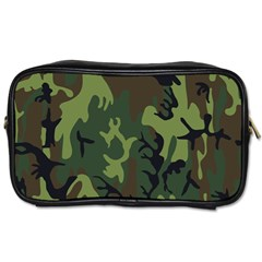 Military Camouflage Pattern Toiletries Bags by BangZart