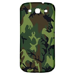 Military Camouflage Pattern Samsung Galaxy S3 S Iii Classic Hardshell Back Case by BangZart