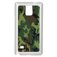 Military Camouflage Pattern Samsung Galaxy Note 4 Case (white) by BangZart