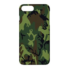 Military Camouflage Pattern Apple Iphone 7 Plus Hardshell Case by BangZart
