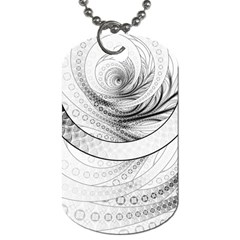 Enso, A Perfect Black And White Zen Fractal Circle Dog Tag (one Side) by jayaprime