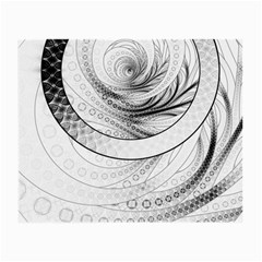Enso, A Perfect Black And White Zen Fractal Circle Small Glasses Cloth (2-side) by jayaprime