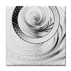 Enso, A Perfect Black And White Zen Fractal Circle Face Towel by jayaprime