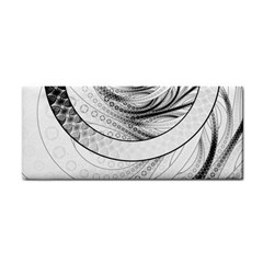 Enso, A Perfect Black And White Zen Fractal Circle Cosmetic Storage Cases by jayaprime