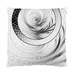 Enso, A Perfect Black And White Zen Fractal Circle Standard Cushion Case (one Side) by jayaprime