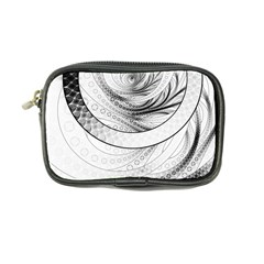Enso, A Perfect Black And White Zen Fractal Circle Coin Purse by jayaprime