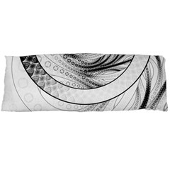 Enso, A Perfect Black And White Zen Fractal Circle Body Pillow Case Dakimakura (two Sides) by jayaprime