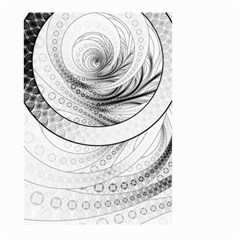 Enso, A Perfect Black And White Zen Fractal Circle Large Garden Flag (two Sides) by jayaprime