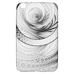 Enso, A Perfect Black And White Zen Fractal Circle Samsung Galaxy Tab 3 (8 ) T3100 Hardshell Case  by jayaprime