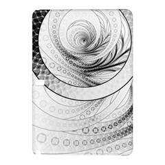 Enso, A Perfect Black And White Zen Fractal Circle Samsung Galaxy Tab Pro 12 2 Hardshell Case by jayaprime