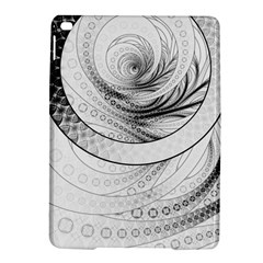 Enso, A Perfect Black And White Zen Fractal Circle Ipad Air 2 Hardshell Cases by jayaprime