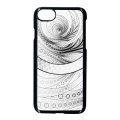 Enso, A Perfect Black And White Zen Fractal Circle Apple Iphone 7 Seamless Case (black) by jayaprime
