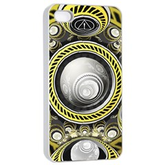 A Cautionary Fractal Cake Baked For Glados Herself Apple Iphone 4/4s Seamless Case (white) by jayaprime