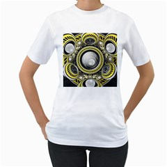 A Cautionary Fractal Cake Baked For Glados Herself Women s T-shirt (white)  by jayaprime