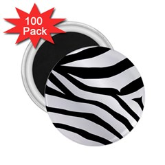 White Tiger Skin 2 25  Magnets (100 Pack)  by BangZart