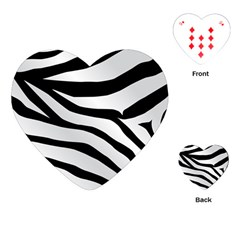 White Tiger Skin Playing Cards (heart)  by BangZart