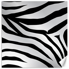White Tiger Skin Canvas 16  X 16   by BangZart