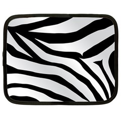 White Tiger Skin Netbook Case (large) by BangZart