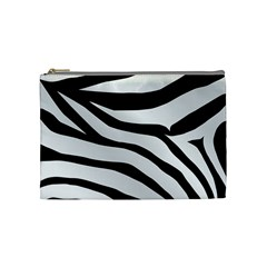 White Tiger Skin Cosmetic Bag (medium)