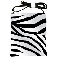 White Tiger Skin Shoulder Sling Bags by BangZart