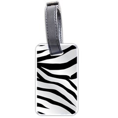 White Tiger Skin Luggage Tags (one Side)  by BangZart