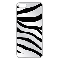 White Tiger Skin Apple Seamless Iphone 5 Case (clear) by BangZart