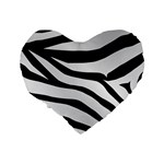 White Tiger Skin Standard 16  Premium Heart Shape Cushions Back
