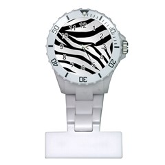 White Tiger Skin Plastic Nurses Watch by BangZart
