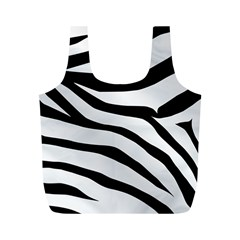 White Tiger Skin Full Print Recycle Bags (m)  by BangZart