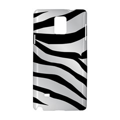 White Tiger Skin Samsung Galaxy Note 4 Hardshell Case by BangZart