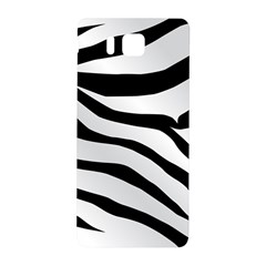 White Tiger Skin Samsung Galaxy Alpha Hardshell Back Case by BangZart