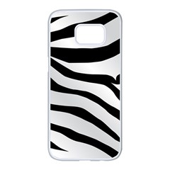 White Tiger Skin Samsung Galaxy S7 Edge White Seamless Case