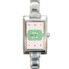 Today Will Be Great Rectangle Italian Charm Watch by BangZart