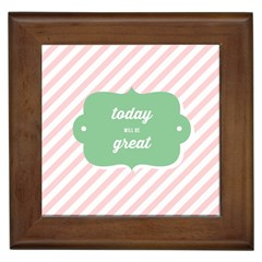 Today Will Be Great Framed Tiles by BangZart