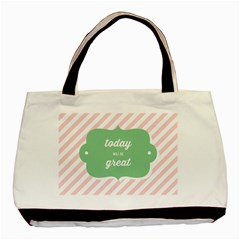 Today Will Be Great Basic Tote Bag by BangZart
