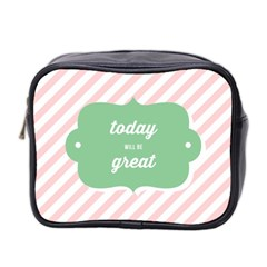Today Will Be Great Mini Toiletries Bag 2 Side by BangZart