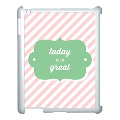 Today Will Be Great Apple Ipad 3/4 Case (white) by BangZart