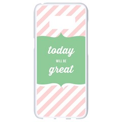 Today Will Be Great Samsung Galaxy S8 White Seamless Case by BangZart