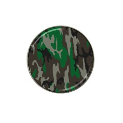 Army Green Camouflage Hat Clip Ball Marker (4 Pack)